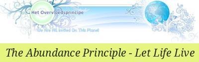 Het Overvloedsprincipe - Leven Laten Leven  Zonder haar te belasten op welke laag dan ook